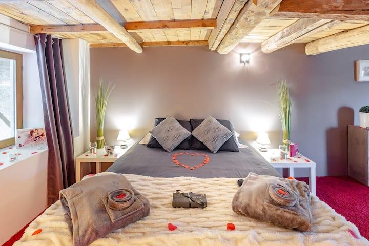 Week-end romantique sauna-jacuzzi