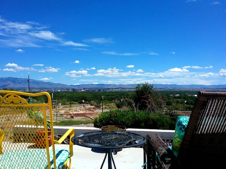 Secure carport.  Amazing Views and Reviews!