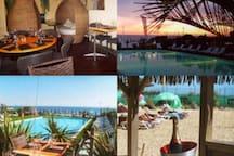 Anguilla Beach est le bar restaurant au pied de la résidence, vous pouvez profiter de la piscine et déjeuner/dîner face à la mer.