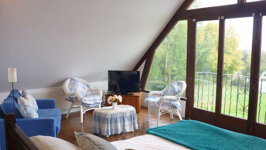Romantic one bedroom Gite with heated pool - Saint-Sauveur-de-Carrouges - Casa