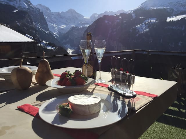Stunning 3 bed ski chalet with best view in Wengen