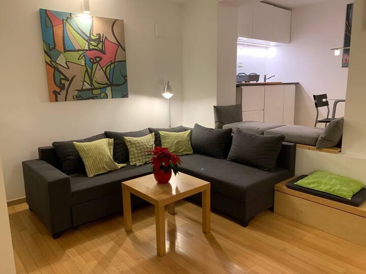 Mia's quiet, nice&friendly studio near the centre