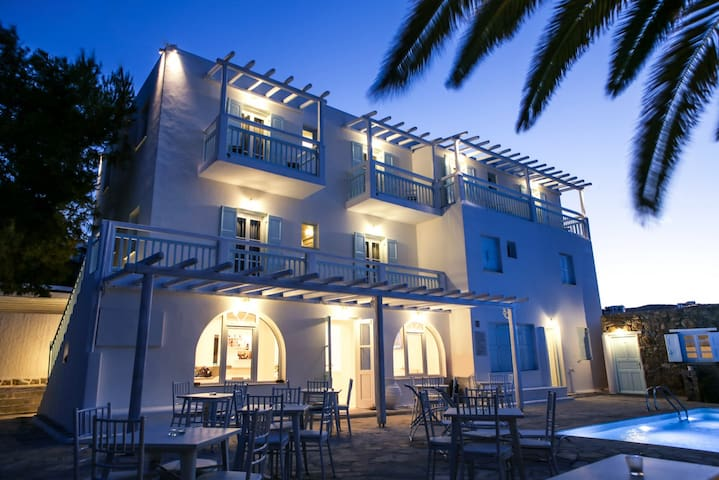 AnamarBlu, Double room with pool and breakfast - Ornos