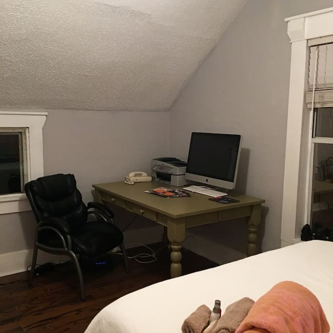 Desk space, wifi included