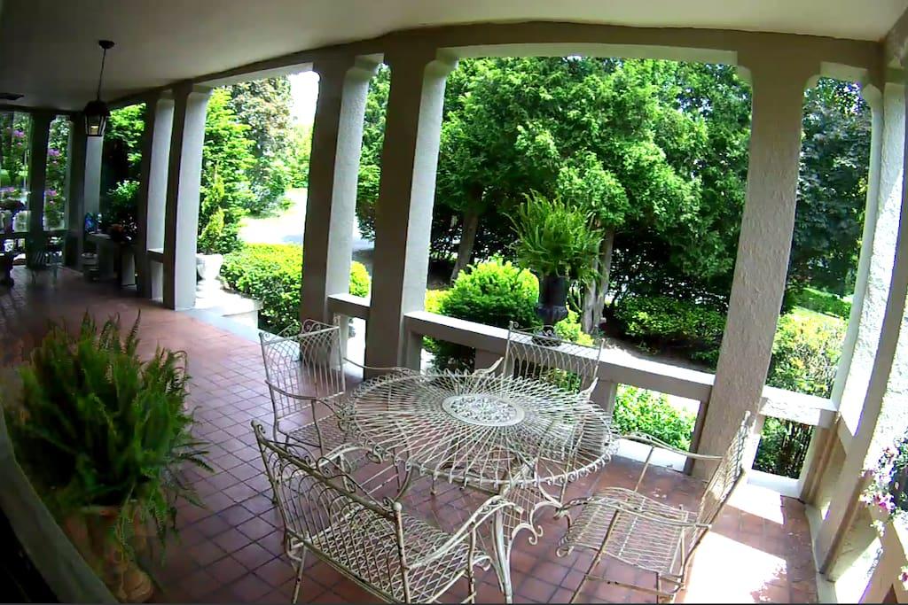 veranda for reading or conversations