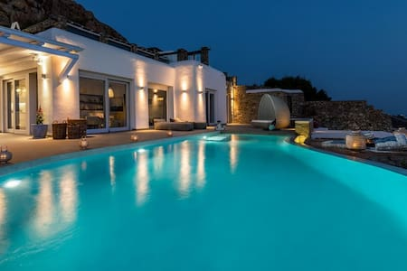 Villa with pool and amazing sea view in Mykonos - Agios Ioannis Diakoftis - Villa