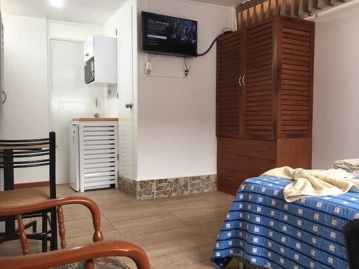 Habitación moderna c. baño y kitchen en Miraflores