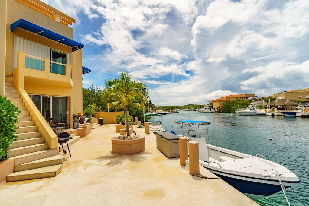 Watch the boats come in and out of the marina from your own private dock.