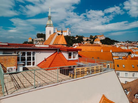 Majestic views from a 60m2 terrace -> true history