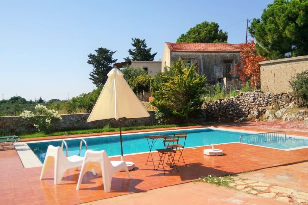 Large pool with spacious surrounding area