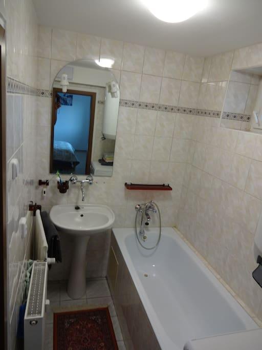 Koupelna s pračkou/Bathroom with washing mashine