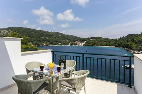 Apartments Posta - One-Bedroom Apartment with Terrace and Sea View