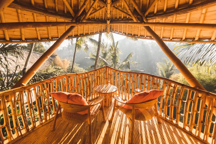 Ananda House 3bds Eco Bamboo House Pool River View