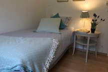 The third bedroom can be configured with two single beds together for a couple or standing separate to fit two friends or kids.
