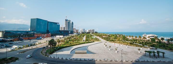 Orbi beach tower,  416 вид на море и парк