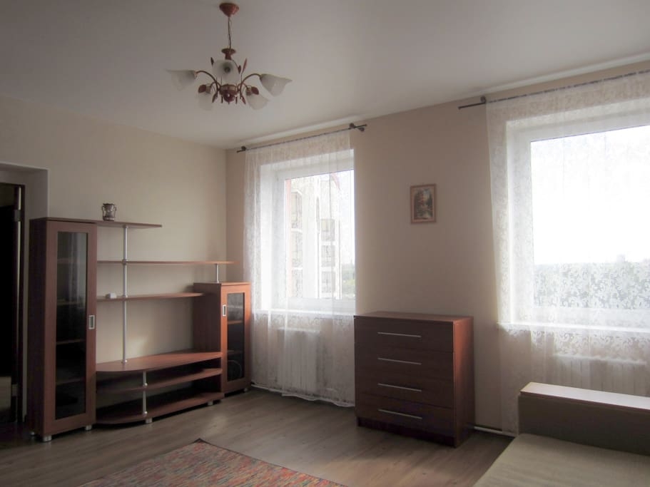 Spacious room with two windows