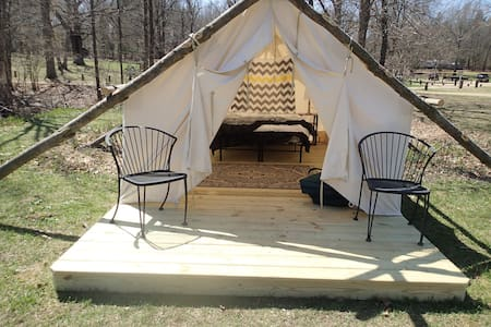 Glamping Canvas Tent KOA (42) - Township of Branch - Tent