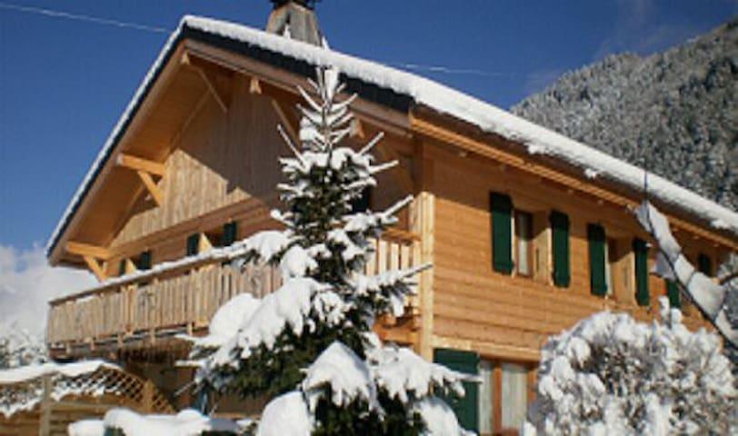 CHALET TYPIQUE AU PIED DU MONTBLANC - Saint-Gervais-les-Bains - Apartemen