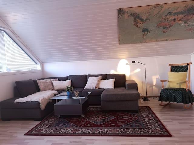 Stor leilighet, 2 soverom, inntil 7 sengeplasser