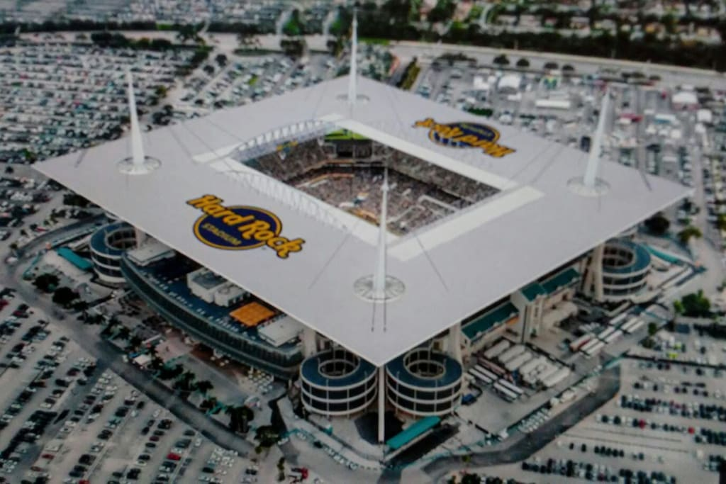Close to the newly renovated Hard rock Stadium - 5 miles away