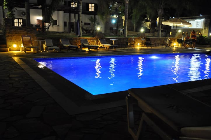 Swimming pool by night