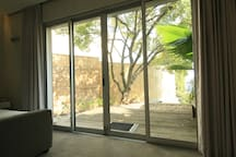garden bedroom sliding doors to the private deck