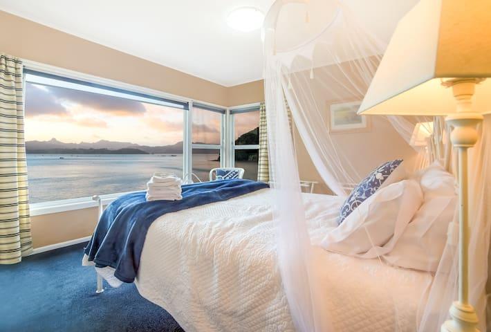 Upper Beachfront Apartment - Master bedroom!