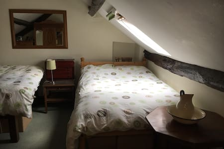 Spacious open plan, attic room near Hay and Brecon