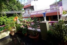 Front balcony facing Auroville main road