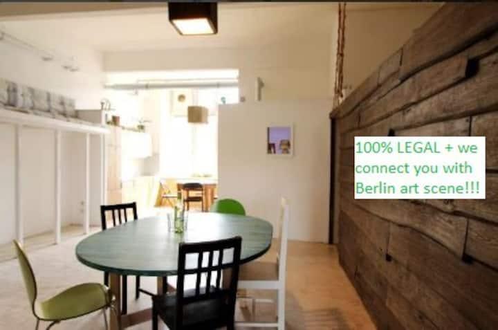 140 m² loft único - en el río Spree