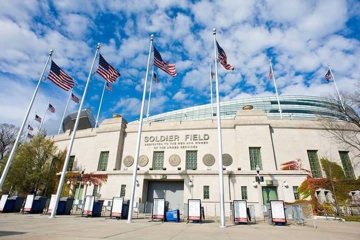 Enjoy a game at Soldier Field, home of the 1985 World Champion Bears-1.3 miles or 6 min drive