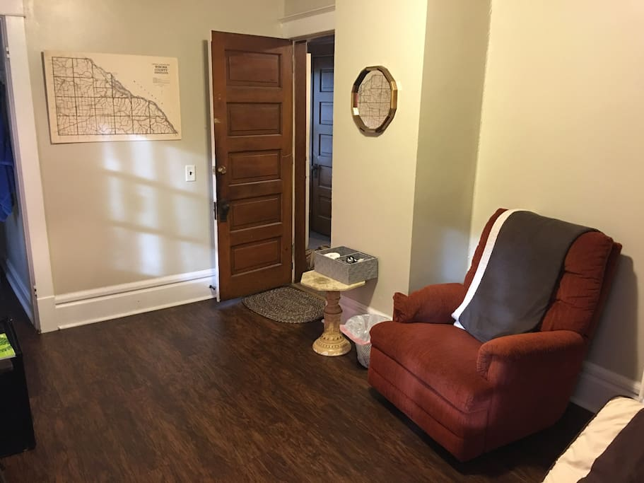 Door to the room.