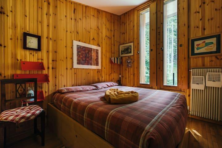 apartment central en bois avec vue sur la forêt