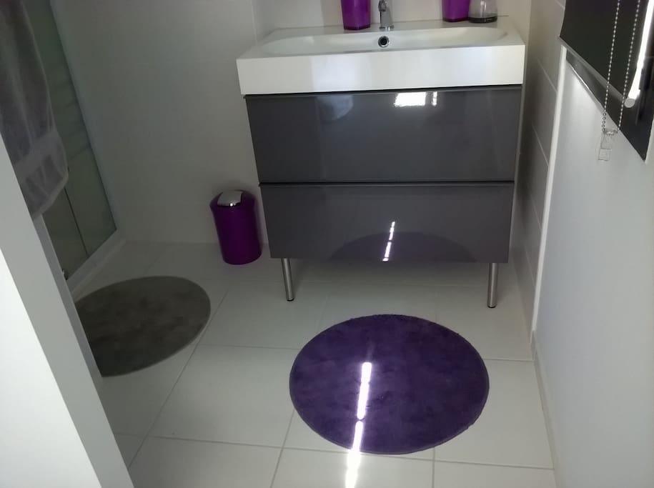 Entrée salle d'eau privative chambre 2