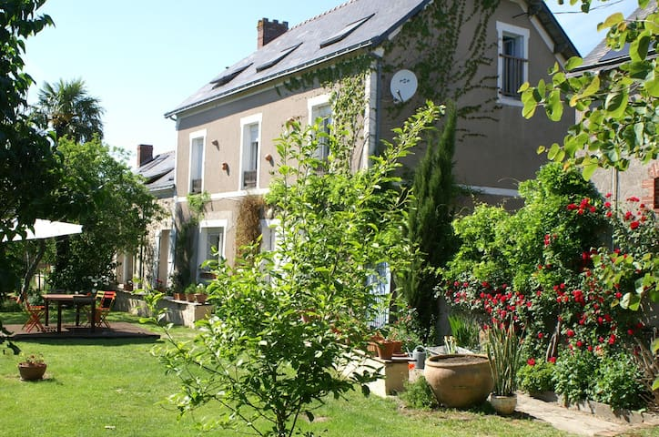 """maison d'hôtes """"au bout de l'île"""" - Montjean-sur-Loire - Rumah"""