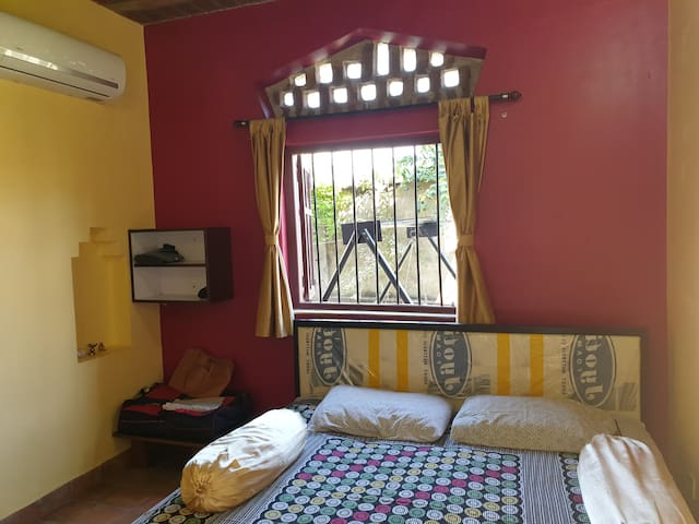 ground floor bed room-airconditioned -view 1