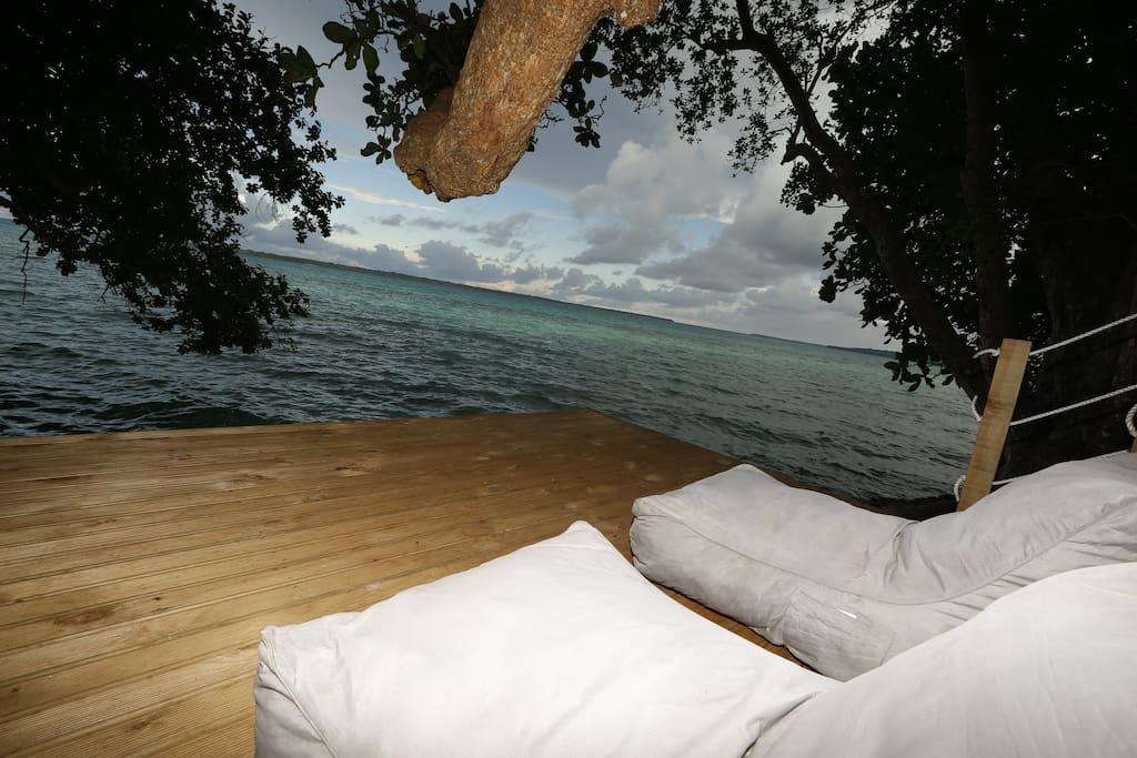 lower deck treetop tent