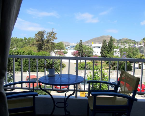 Sitting on the balcony.  To see videos of the rooms, please try you tube hotel parko channel.