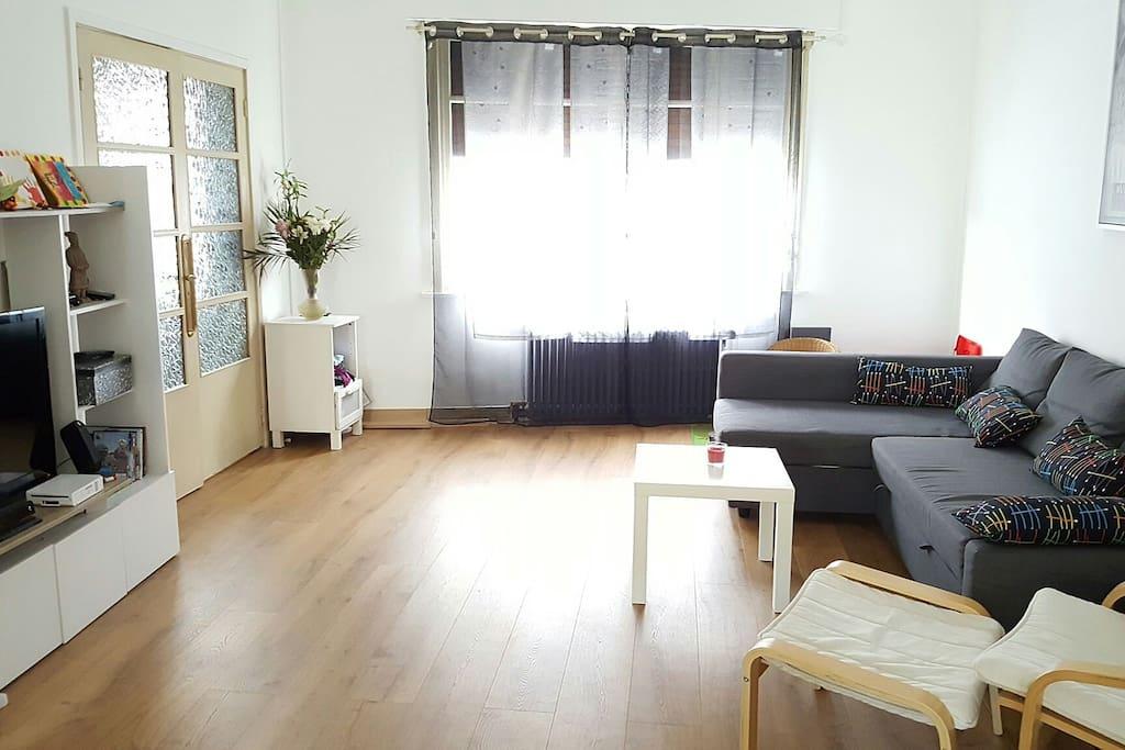 Canap lit 2 personnes dans salon maisons louer h nin beaumont nord pa - Canape lit 2 personnes ...