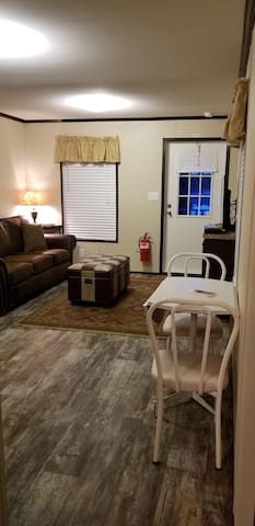 Tiny house living room/dining area