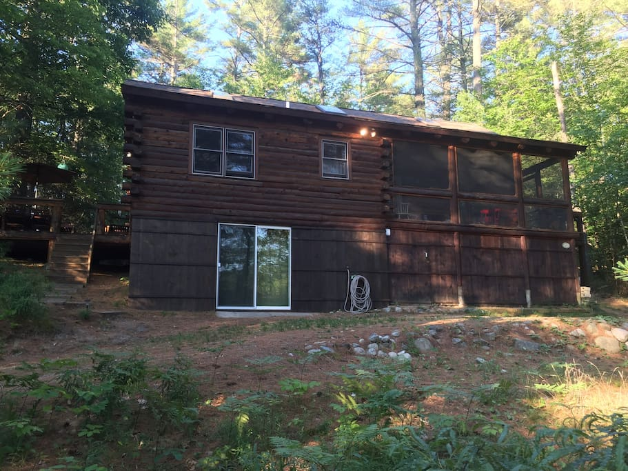 Beautiful log cabin on belleau lake houses for rent in for New hampshire log cabins