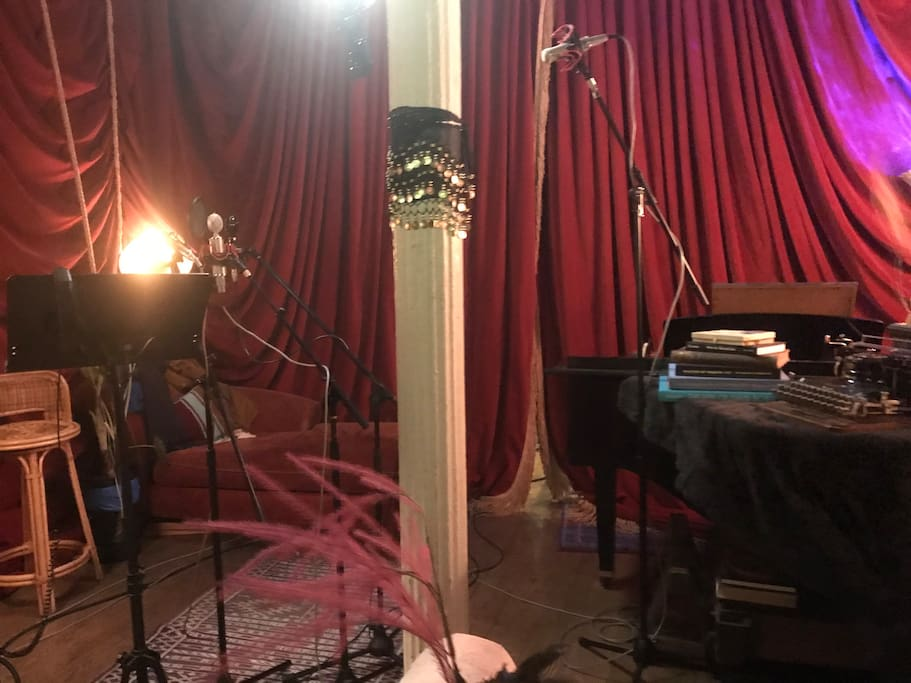 Enter Dreamland.  This is our main room for recording vocals, piano, and any acoustic performance.
