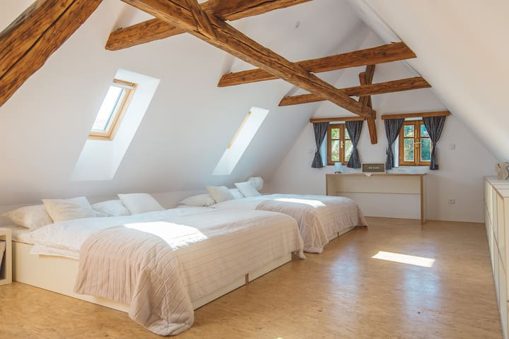 Second bedroom for up to 5 people - 2 double beds and one single bed