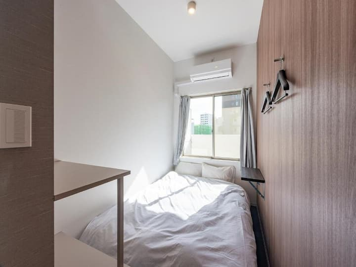 5mins->Minamisenju Sta/Compact Double room