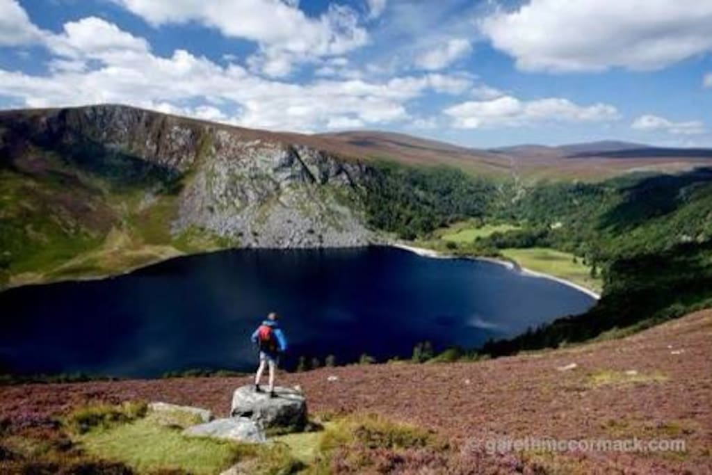 The fabulous Lough Tay view only 3km away
