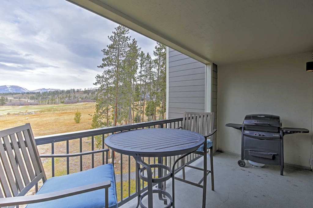 Utilize the gas grill on sunny afternoons in Colorful Colorado.