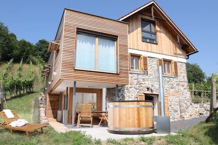 Luxus Weinberg Lodge mit eigenem Wellnessbereich