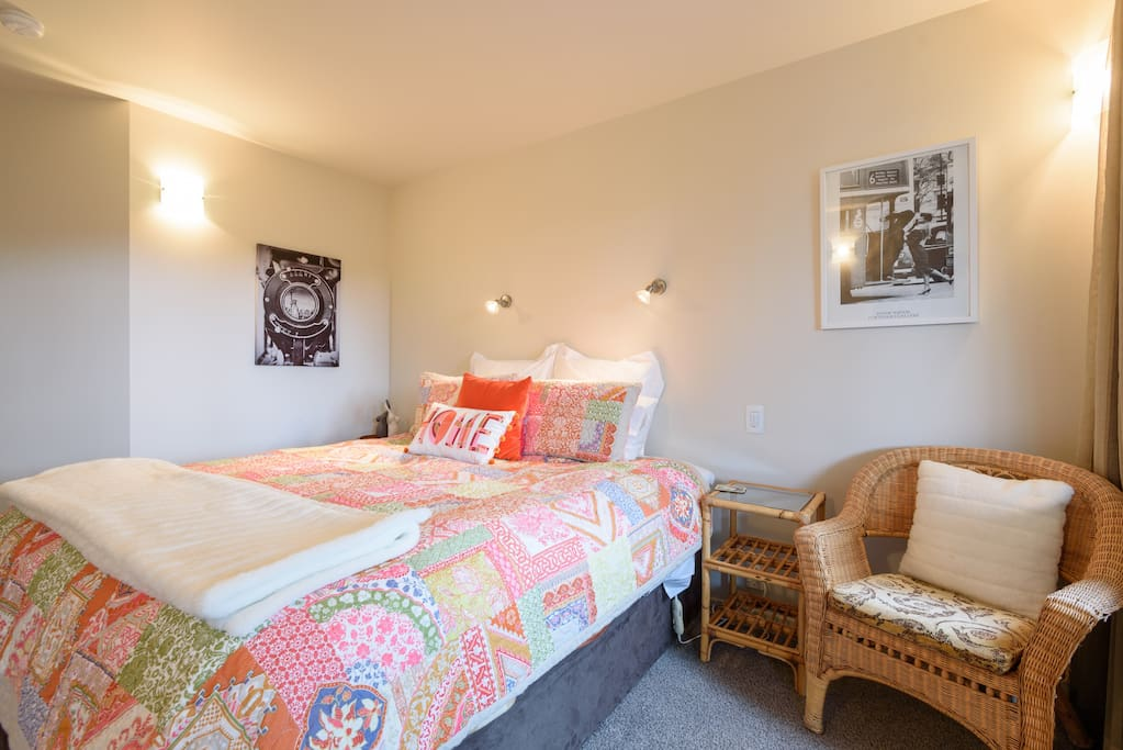Super king sized bed and spacious bedroom.