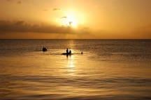 Bath, after horse races. Southwest Bay at sunset
