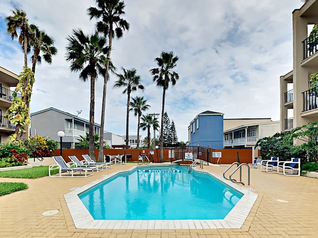 Enjoy access to a shimmering pool and kiddie pool at this South Padre Island rental, professionally managed by TurnKey Vacation Rentals.